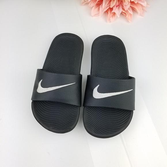 b0407e95943cf5 Nike kawa black kids slides size 12C. M 5c3293a0bb761543df813ca5. Other  Shoes ...